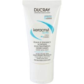 Ducray Keracnyl зволожуючий відновлюючий крем для шкіри висушеної та подразненої лікуванням акне  50 мл