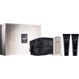 Dunhill Icon coffret V.  Eau de Parfum 100 ml + gel de duche 90 ml + bálsamo after shave 90 ml + bolsa de cosméticos 1 ks