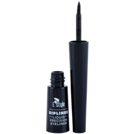 E style Dipliner Liquid Eye Eyeliner Farbton 01 Black 3 ml