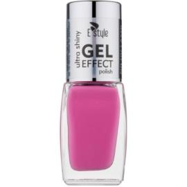 E style Gel Effect gélový lak na nechty bez použitia UV/LED lampy odtieň 11 Royal Purple 10 ml