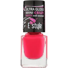 E style Mini Crazy neonový lak na umělé i přírodní nehty odstín 25 Pink 7 ml