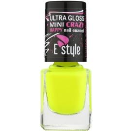 E style Mini Crazy neonový lak na umělé i přírodní nehty odstín 26 Yellow 7 ml