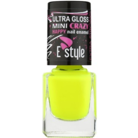 E style Mini Crazy esmalte tono neón para uñas artificiales y naturales tono 26 Yellow 7 ml