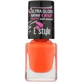 E style Mini Crazy neonový lak na umělé i přírodní nehty odstín 28 Peach 7 ml