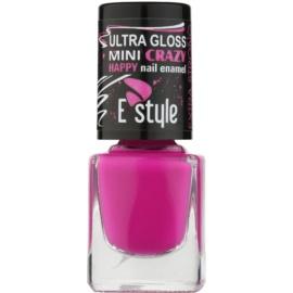 E style Mini Crazy neonový lak na umělé i přírodní nehty odstín 29 Purple 7 ml