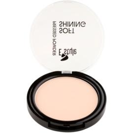E style Soft Shining rozjasňující kompaktní pudr pro ideální odstín pleti odstín 01 Nude 12 g