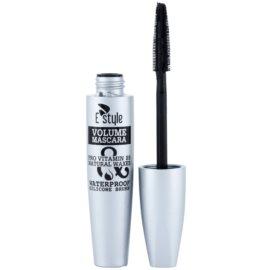 E style Volume Waterproof Mascara řasenka pro objem a zahuštění řas odstín 01 Black 10 ml