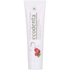 Ecodenta Kalident erfrischende Zahncreme gegen Zahnstein 2 in 1 Geschmack Cranberry 100 ml