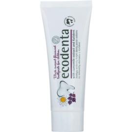 Ecodenta Kids zubní pasta pro děti s vůní černého rybízu a extraktem heřmánku  75 ml