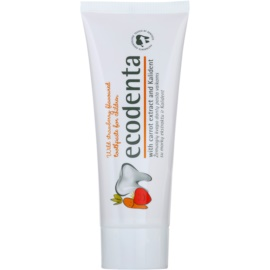 Ecodenta Kids zubná pasta pre deti s vôňou lesný jahôd a extraktom z mrkvy  75 ml