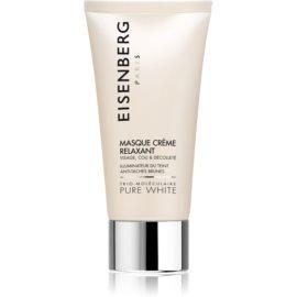 Eisenberg Pure White maseczka nawilżająca i rozświetlająca przeciw przebarwieniom skóry  75 ml