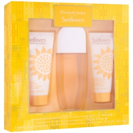 Elizabeth Arden Sunflowers set cadou I.  Apa de Toaleta 100 ml + Lotiune de corp 100 ml + Crema de corp 100 ml