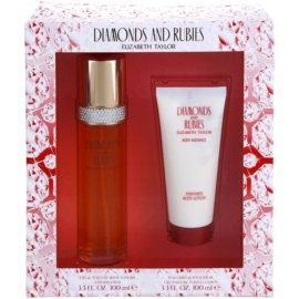 Elizabeth Taylor Diamonds and Rubies Geschenkset I. Eau de Toilette 100 ml + Körperlotion 100 ml