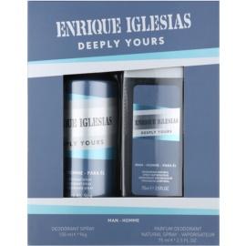 Enrique Iglesias Deeply Yours Geschenkset II.  Deo-Spray 150 ml + Deo-Spray 75 ml