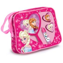 EP Line Ледена приказка Frozen подаръчен комплект II.  чантичка 1 ks + балсам за устни 1 ks + гланц за устни 2x + козметично огледалце 1 ks