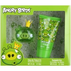 EP Line Angry Birds Green ajándékszett I.  Eau de Toilette 50 ml + tusfürdő gél 150 ml