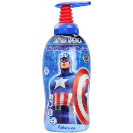 EP Line El Capitán América gel de ducha y para baño para niños   1000 ml