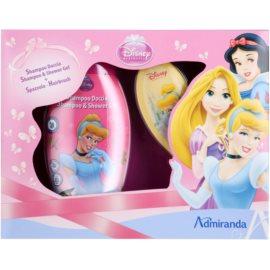 EP Line Disney Princezny dárková sada VIII.  sprchový gel 250 ml + hřeben