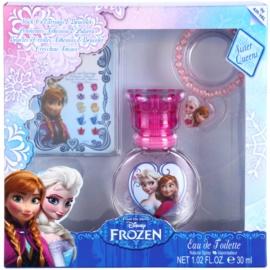EP Line Ледена приказка Frozen подаръчен комплект X.  тоалетна вода 30 ml + гривна + залепващи се обеци