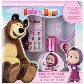 EP Line Masha and The Bear zestaw upominkowy I.  woda toaletowa 30 ml + kolczyki naklejki + bransoletka