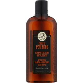 Erbario Toscano Black Pepper Shampoo und Conditioner 2 in 1 für Herren  250 ml