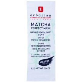 Erborian Detox Matcha Perfect Mask revitalizační maska pro minimalizaci pórů 3 v 1  8 x 1,2 g