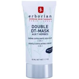 Erborian Detox Double DT-Mask 7 Herbs Nežna piling krema 2v1  50 ml