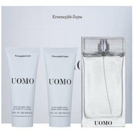 Ermenegildo Zegna Uomo dárková sada III.  toaletní voda 100 ml + balzám po holení 100 ml + sprchový gel 100 ml