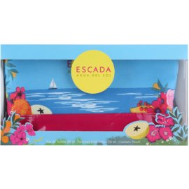Escada Agua del Sol dárková sada II.  toaletní voda 50 ml + tělové mléko 50 ml + kosmetická taška