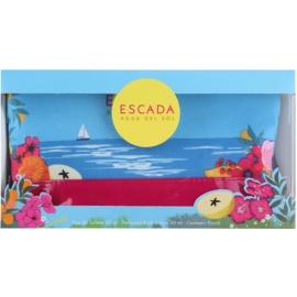 Escada Agua del Sol ajándékszett II.  Eau de Toilette 50 ml + testápoló tej 50 ml + kozmetikai táska