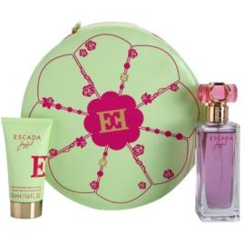 Escada Joyful dárková sada III. parfémovaná voda 75 ml + tělové mléko 50 ml + kosmetická taška