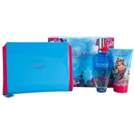 Escada Turquoise Summer Limited Edition подаръчен комплект I. тоалетна вода 100 ml + мляко за тяло 150 ml + чанта