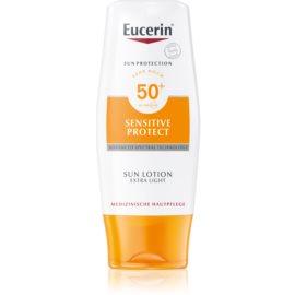 Eucerin Sun Sensitive Protect екстра легке молочко для засмаги SPF50+  150 мл