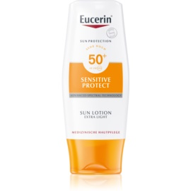 Eucerin Sun Protetor solar extra leve para o corpo SPF 50 à prova d'água  150 ml