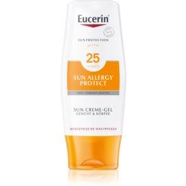 Eucerin Sun loção protetora gel - creme contra as alergias ao sol SPF 25  150 ml