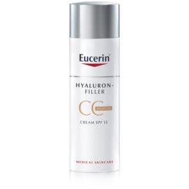 Eucerin Hyaluron-Filler crema CC contra arrugas marcadas SPF15 tono Medium Dark 50 ml