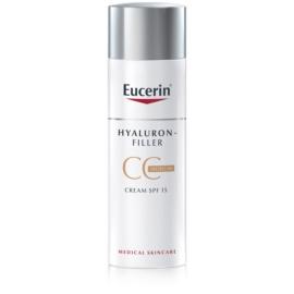 Eucerin Hyaluron-Filler CC creme contra as rugas profundas SPF 15 tom Medium Dark 50 ml