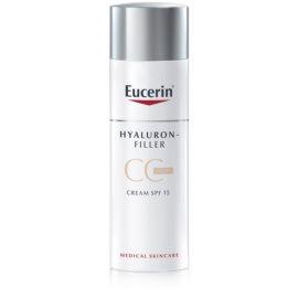 Eucerin Hyaluron-Filler crema CC contra arrugas marcadas SPF15 tono Light/Natural 50 ml