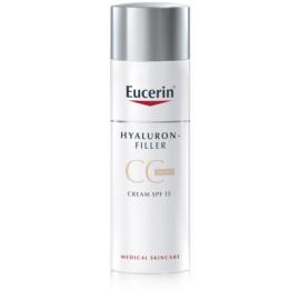 Eucerin Hyaluron-Filler CC creme contra as rugas profundas SPF 15 tom Light/Natural 50 ml