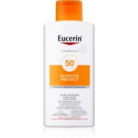 Eucerin Sun Sensitive Protect екстра легке молочко для засмаги SPF50+  400 мл