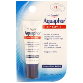 Eucerin Aquaphor Lip Repair Balsam für trockene und rissige Lippen (With Vitamins, Shea Butter and Chamomole Essence) 10 ml