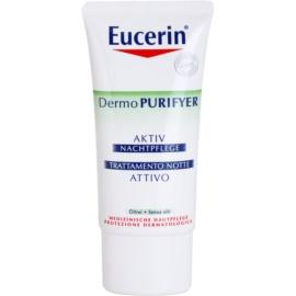 Eucerin Dermo Purifyer Feuchtigkeitsspendende Nachtcreme für fettige und problematische Haut  50 ml