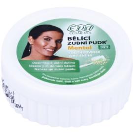 Eva Menthol polvo blanqueador para dientes  3 en 1 mentol  30 g