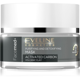 Eveline Cosmetics FaceMed+ Cleansing Detoxifying Activated Carbon Mask  50 ml