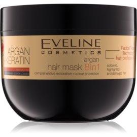 Eveline Cosmetics Argan + Keratin maska na vlasy s keratinem a arganovým olejem  300 ml