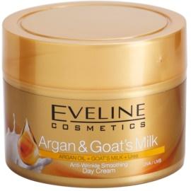 Eveline Cosmetics Argan & Goat´s Milk crema de día alisadora antiarrugas  50 ml