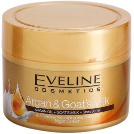Eveline Cosmetics Argan & Goat´s Milk vyživující a zklidňující noční krém proti vráskám  50 ml