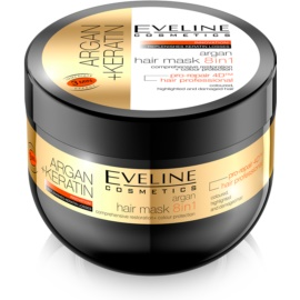 Eveline Cosmetics Argan + Keratin masca de par 8 in 1  500 ml