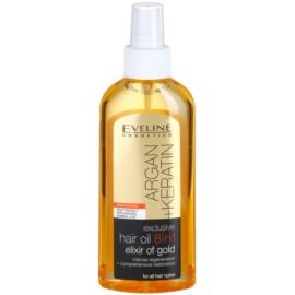 Eveline Cosmetics Argan + Keratin ulei pentru par 8 in 1  150 ml