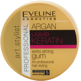 Eveline Cosmetics Argan + Keratin extra silná guma na vlasy  100 g